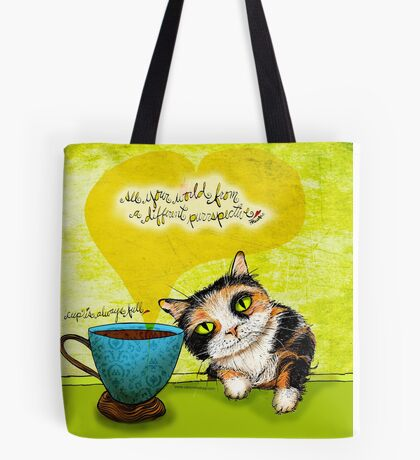 What my #Coffee says to me July 9, 2016 Tote Bag