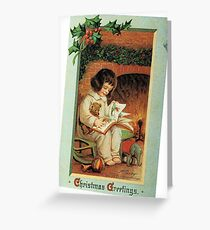 A Little Girl's Christmas Greeting Card