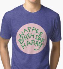 Happee Birthdae Harry - Circle Tri-blend T-Shirt