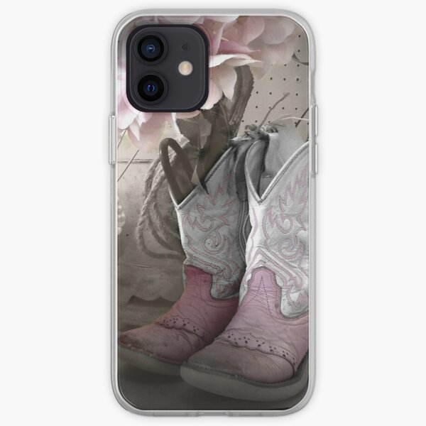 Pink Cowgirl Boots iPhone Soft Case