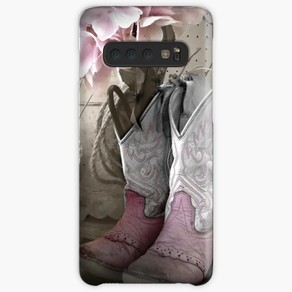 Pink Cowgirl Boots Case & Skin for Samsung Galaxy