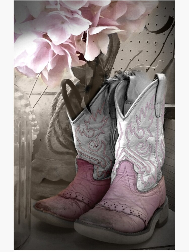 Pink Cowgirl Boots by colgdrew
