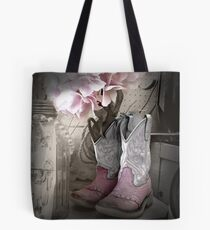Pink Cowgirl Boots Tote Bag