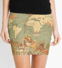 Map Of The British Empire 1886 Mini Skirt