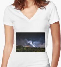 Natures Fireworks Women's Fitted V-Neck T-Shirt