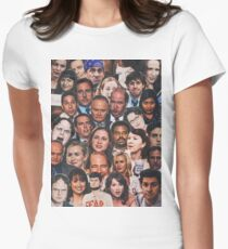 The Office Collage  Women's Fitted T-Shirt