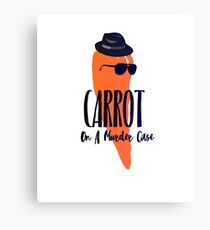 Carrot on a bunny murder case T-shirt Canvas Print
