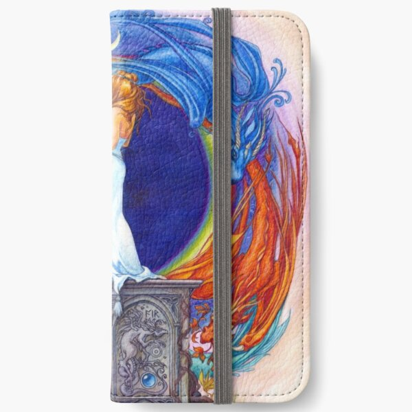 Summoning the Elemental Dragons iPhone Wallet