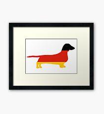 dachshund flag silhouette Framed Print