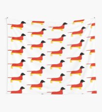 dachshund flag silhouette Wall Tapestry