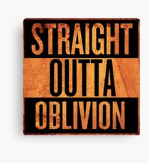 Straight Outta Oblivion Canvas Print