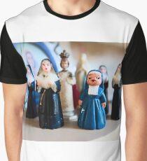 Christmas Nuns Greeting Card Graphic T-Shirt