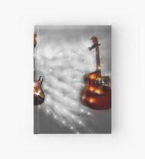Christmas Guitars Greeting Card Hardcover Journal