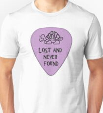 Lost Guitar Pick Purple Unisex T-Shirt