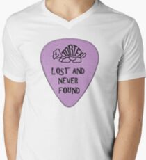 Lost Guitar Pick Purple Mens V-Neck T-Shirt