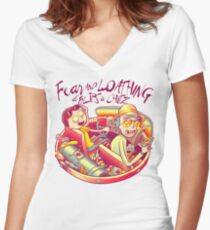 Fear and Loathing at Blips & Chitz Women's Fitted V-Neck T-Shirt