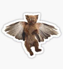 Flying Taxidermy Kitten by Adele Morse Sticker