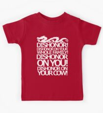 Dishonor on your cow. [US Spelling]  Kids Tee