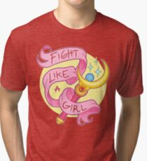 Camiseta de tejido mixto Pelea como una niña