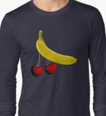 Funny banana and dangly cherries T-Shirt
