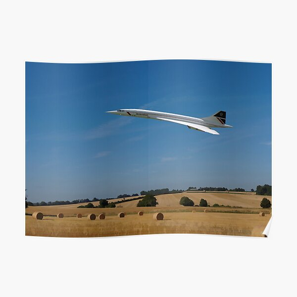 Concorde at Harvest time Poster