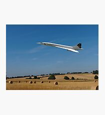Concorde at Harvest time Photographic Print
