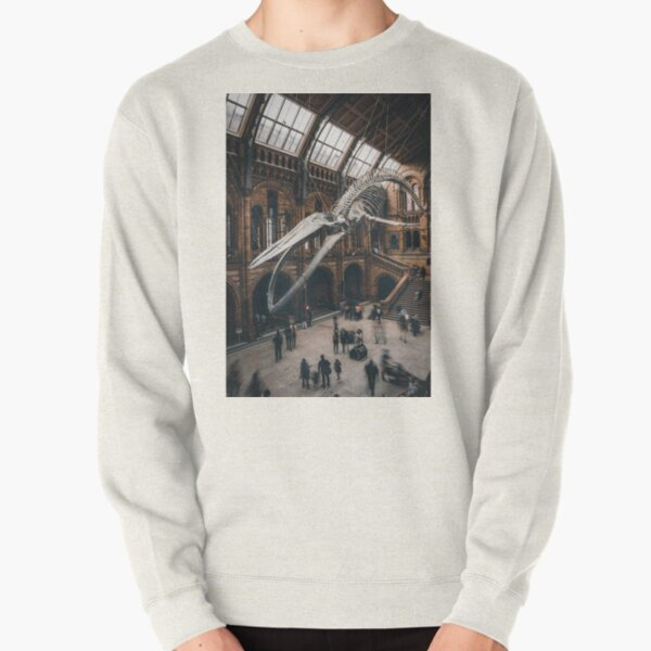 Skeleton of the blue whale at the National History Museum Pullover Sweatshirt