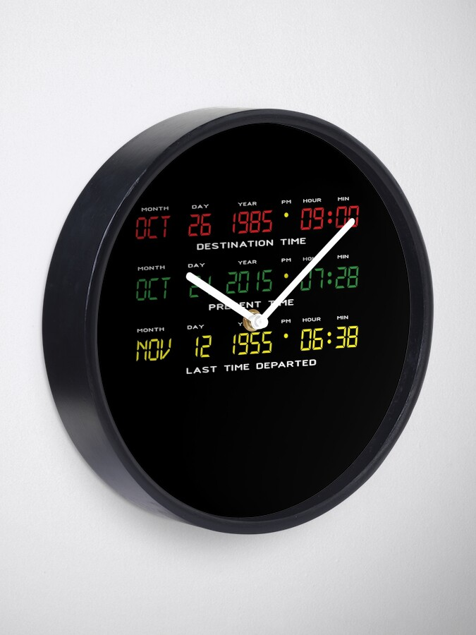 Alternate view of BTTF - Back To The Future - Time Travel Display Dashboard Clock