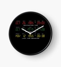 BTTF - Back To The Future - Time Travel Display Dashboard Clock