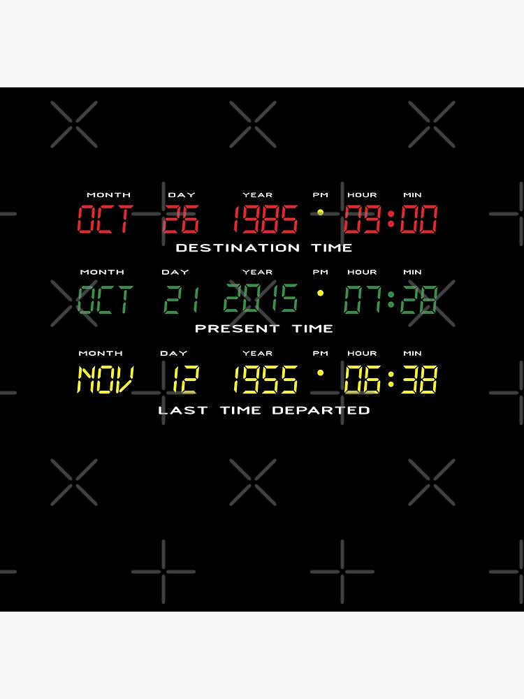 BTTF - Back To The Future - Time Travel Display Dashboard by thedrumstick