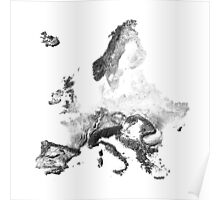 Europe mapped by sunset shadows Poster