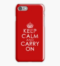 Vintage Distressed Keep Calm and Carry On iPhone 7 Case