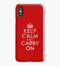 Vintage Distressed Keep Calm and Carry On iPhone Case