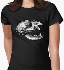 Animal Skull Womens Fitted T-Shirt