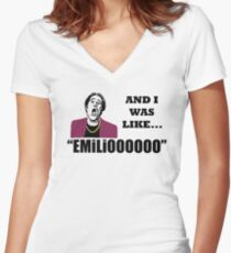 A Night At The Roxbury I Was Like Emilio Movie SNL  Women's Fitted V-Neck T-Shirt