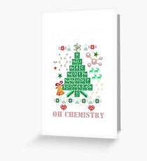 Oh Chemistree Chemistry Funny Ugly Christmas Sweater Greeting Card