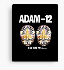 Adam-12 TV Series 70's Retro Canvas Print