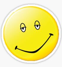Dazed and Confused Smiley Face Sticker