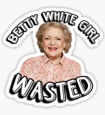 Pegatina Betty White girl perdió