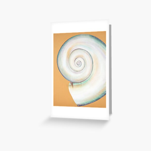White Moon Shell Greeting Card
