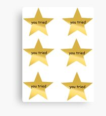 You Tried Sticker Lot Canvas Print