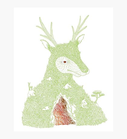 Stag at the Heart of the Mountain Photographic Print