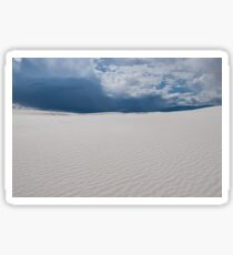 Rain clouds over White Sands National Monument, New Mexico Sticker