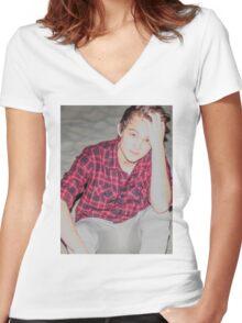 Justin Drew Blake Beach Women's Fitted V-Neck T-Shirt