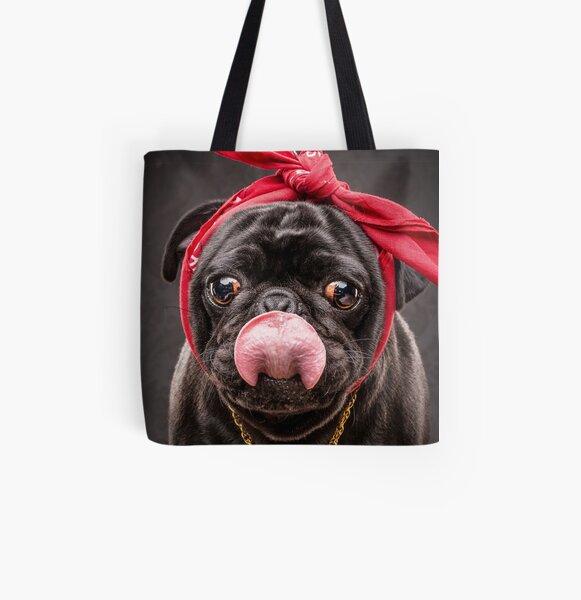 The Pug Life - 2 Pug  All Over Print Tote Bag