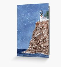 Christmas at the Light Greeting Card