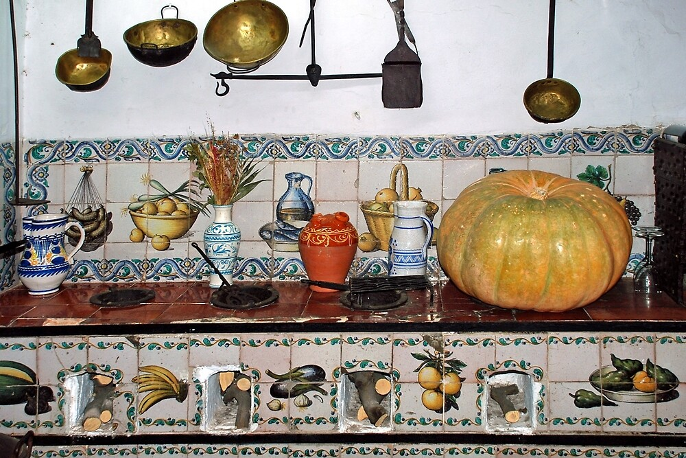 Old kitchen in Cordoba - Spain by Arie Koene