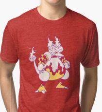 Magmar Popmuerto | Pokemon & Day of The Dead Mashup Tri-blend T-Shirt