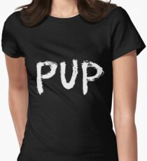 PUP Graffiti Logo White Womens Fitted T-Shirt