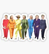 Hillary Clinton Gay Pride Pantsuit Sticker